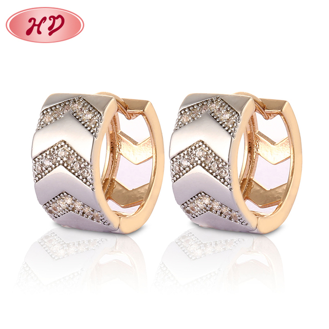 Latest Fashion Jewelry Round Shaped Gold Filled Hoop Earrings