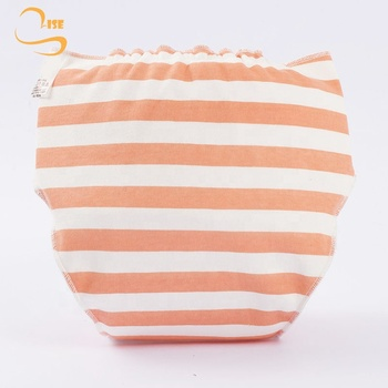 Soft Breathable Baby Washable Cotton Cloth Diaper Hook And Loop