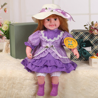 22'' vinyl educational doll, Chinese toy manufacturer singing doll baby