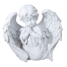 China Manafacture Resin Pray White Color Baby Angel Figurines Wholesale