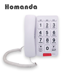 Big button senior telephone handsfree dialing big button telephone with loud and clean sound IC speaker