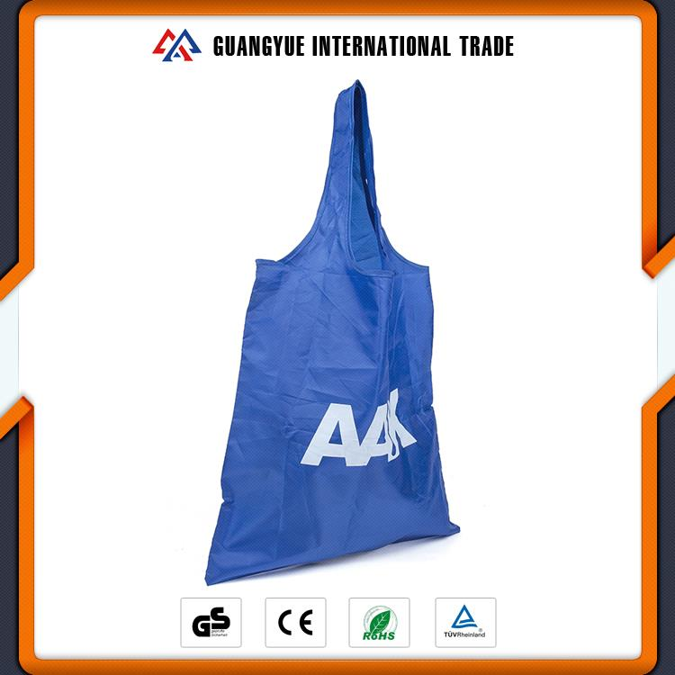 Guangyue China Factory Blue Polyester Promotional Foldable Shopping Bag