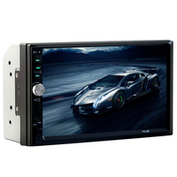 2 double din car MP5 7 inch bluetooth No DVD with FM touch screen