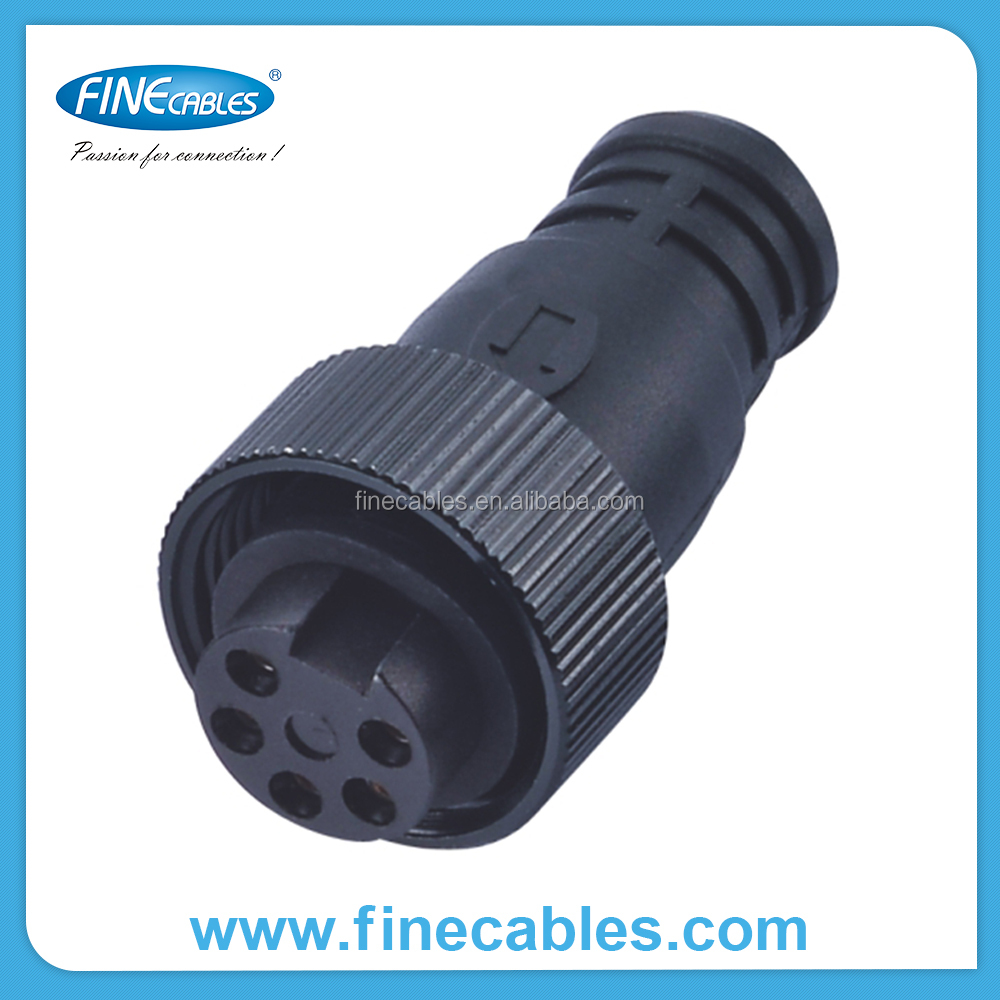 3/4/5/16 pin Aluminium with nickel plated Fix screw female straight brass terminal mini-change connector