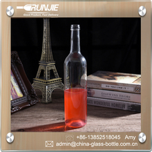 Unique 750ml glass wine bottle, wine bottle 25oz