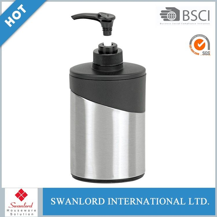 Hotel bathroom stainless steel oval soap pump dispenser