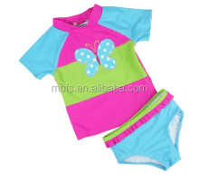 Infant Summer Swimming Pool Wear Two Piece Design Baby Swimwear For Girl