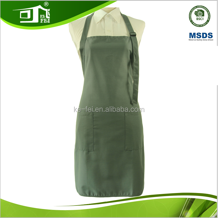 office hotel work uniform apron with adustable neck