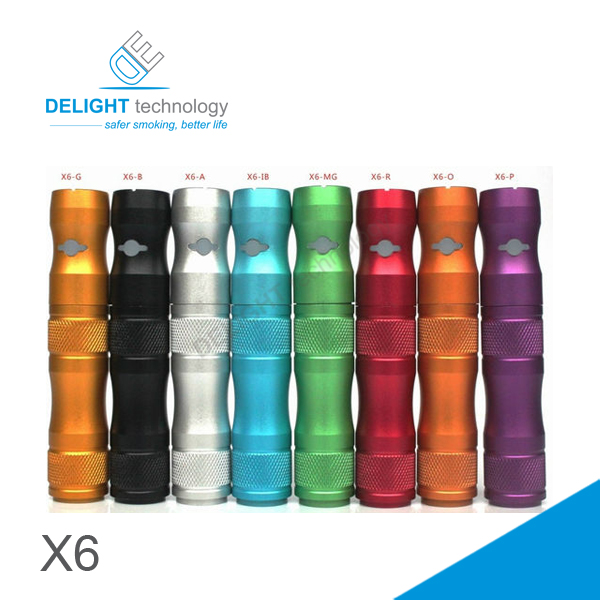 2014 New Arrival All Parts Detachable X6 Battery Mechanical Mod/3.3v-4.2v 14650 Battery Mod X6