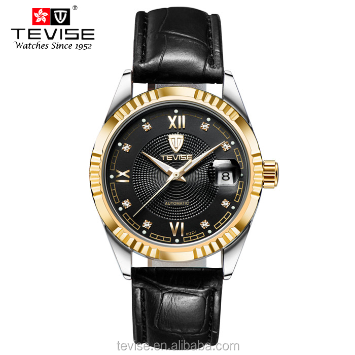 2016 Watches men luxury brand Watch Tevise 629-003 automatic men wristwatches dive 30m Casual Fashion watch