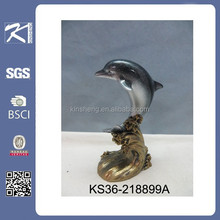 hot new product for 2015 indoor decorative polyresin figurine dolphin for home decoration