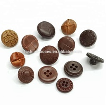 two holes / four holes Imitation Leather Buttons For Garment