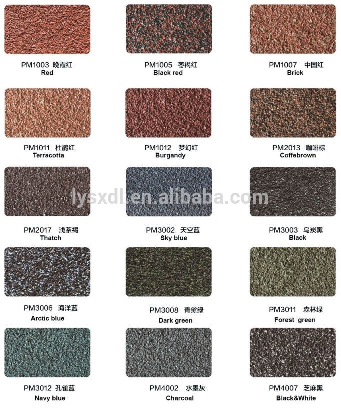 Types Of Iron Sheets Sand Coated Metal Roofing Tiles For