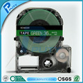 36mm White on Green label tape LK-7GWP compatible for EPSON KINGJIM label printers