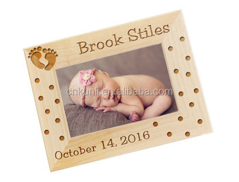 Custom Baby Gift Photo Frames of Girl and Boy Engraved Personalized Picture Frame