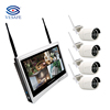 "VESAFE CCTV 4CH 1080P Wireless NVR Kits CCTV 12"" Monitor home wifi security nvr cctv wifi system"