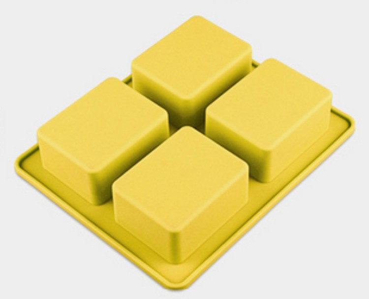 BPA Free Wholesale Custom 4 Holes Silicone Molds for Soap Making