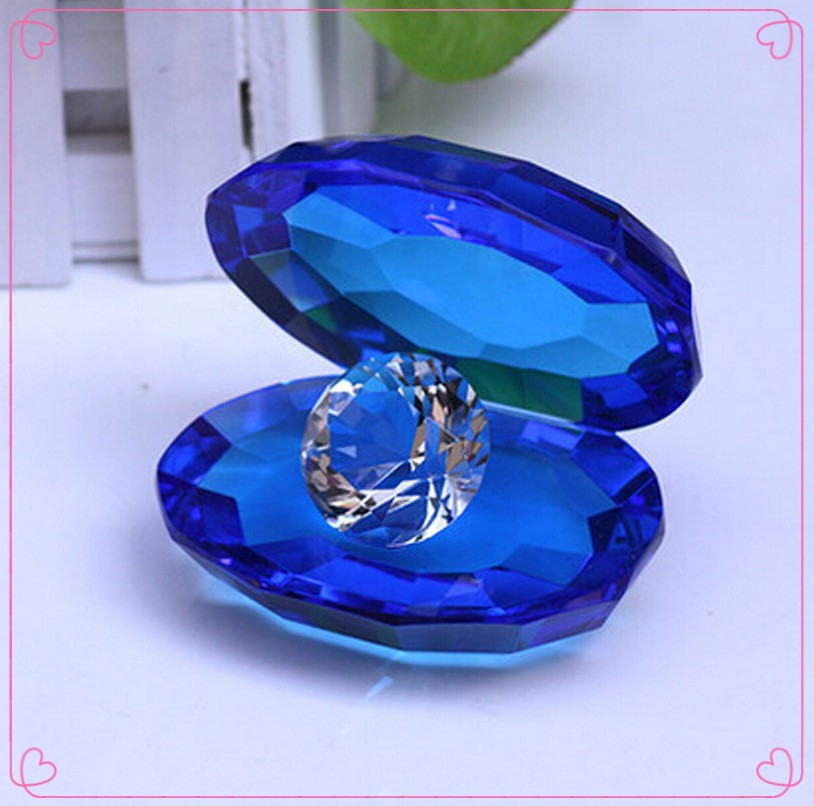 Hot Sales Newest Blue Table Decoration Crystal Diamond Lowest Price For Home&Wedding Decoration