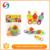 High quality 6 bottles of different color smiling face children bubble gun toys