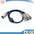 3pin 1male xlr to 2 female xlr cable Y SPLITTER mic cable adaptor cable