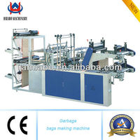 Double-layer computer control with continous-rolled and point-cutting bag making machine