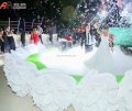 Inflatable White Rose Flowers Chain for Wedding Party