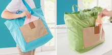 nylon ripstop foldable shopping bag