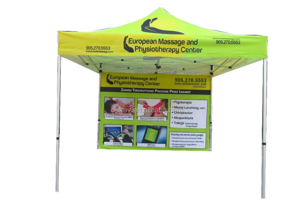 custom fold pop up 10 x 10 canopy tent with side