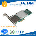LREC9044PF-4SFP PCIe x1 100Base-FX 100FX Quad SFP Port Fiber NIC (Intel 82580 Based) Unique Modle in the world