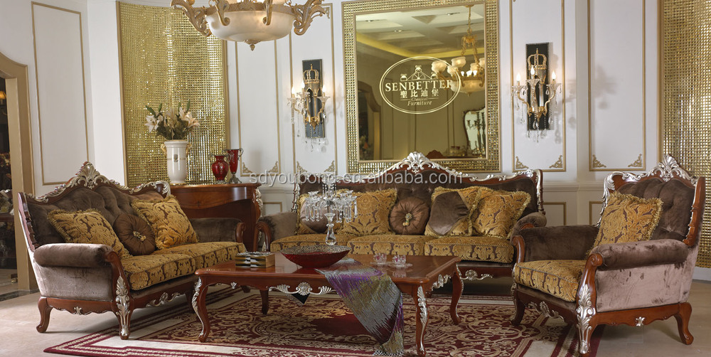 2015 0036 brown italy classic design furniture living room for Decoration armoire salon