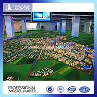 Construction building layout scale model making for government