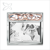 Luxury Resplendent Rose Gold Plated Metal Picture Frame