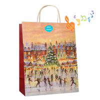 High quality music paper bags with your own logo