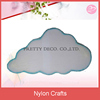 White nylon cloud hanging decoration for baby bedroom