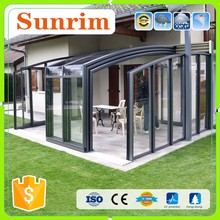 Portable polycarbonate plastic sun house aluminum sunroom season room