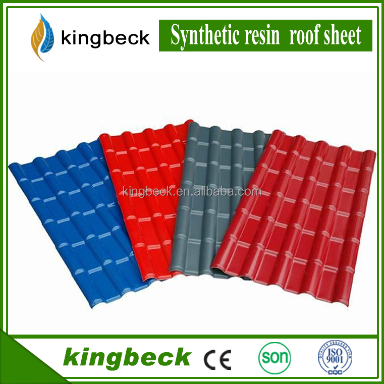china plastic resin heat insulated PVC tiles roof proof asa roofing