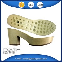 new design women sandal shoes sole pu for high heel slippers