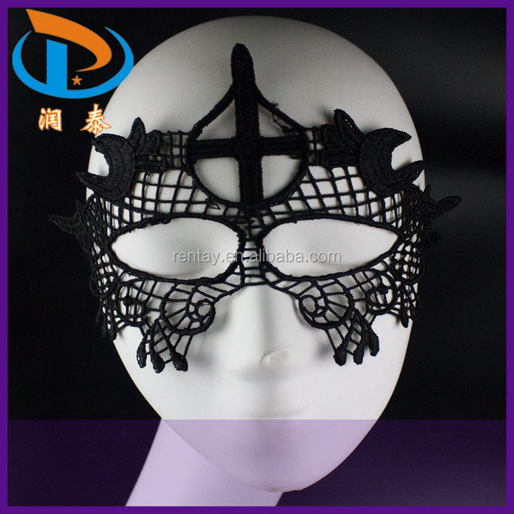 2015 Newest Black Metal Carinival Masquerade Wholesale Lace Masks