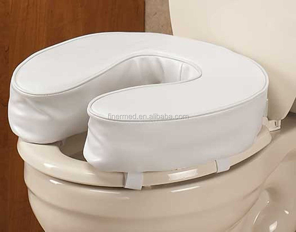Foam Padded Raised Cushioned Toilet Seat Cover