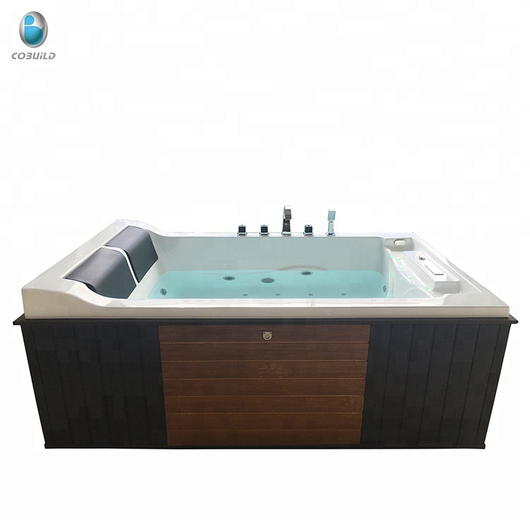 2 People Jetted Bathtub Hydrotherapy Bath Shower Combo Whirlpool ...