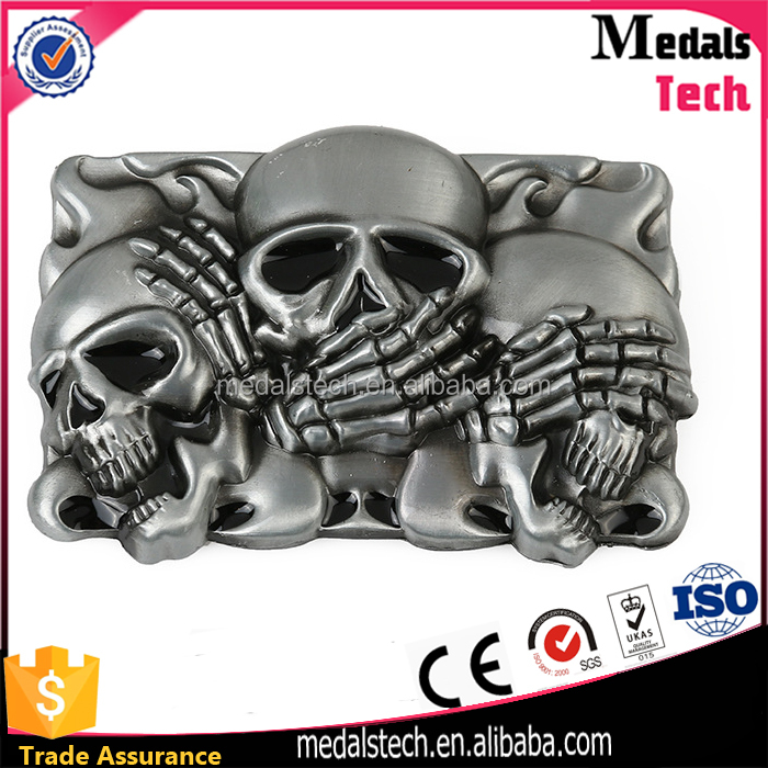 Direct manufacturer made custom quality Halloween metal belt buckle