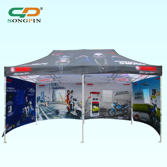 china canopy oem manufacturer wholesale price customize Sublimation Printing Waterproof outdoor PVC canopy with good fold frame