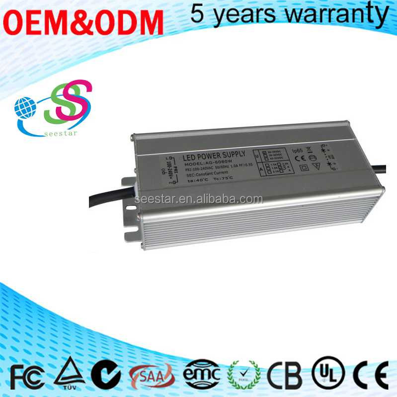 Outdoor waterproof 160w 180w 200w switching power supply,led power supply 100-240V AC CE SAA Approval