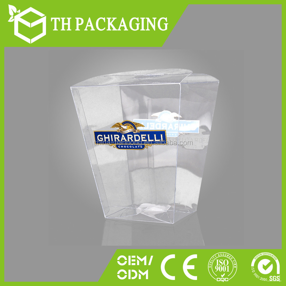 plastic transparent gift packaging rectangular clear plastic box for <strong>wine</strong>