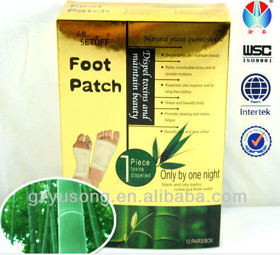 Bamboo vinegar detox foot patch OEM/ODM