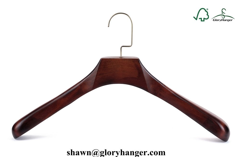 Luxury/Deluxe Antique Vintage Wooden Coat Hanger With Brass Hook