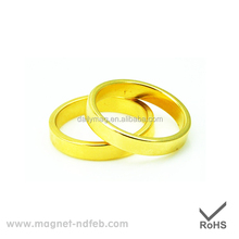 Ring Shape Sintered Gold Plated Strong Neodymium Magnets