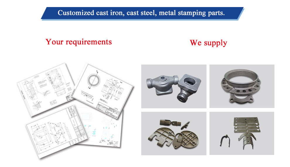 Customize All Kinds of Casting Iron Parts with Good Quality