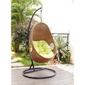 Rattan furniture outdoor wicker egg patio swing chair with stand