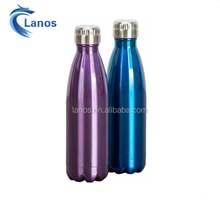 The hottest heat transfer custom logo water bottle sports double wall vacuum SS color intrigue cola water bottle